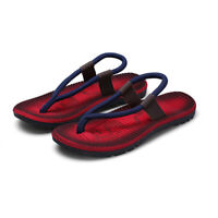 Mens Beach Sliders Casual Shoes Summer Flip Flops Flat Sandals Slippers Shoes