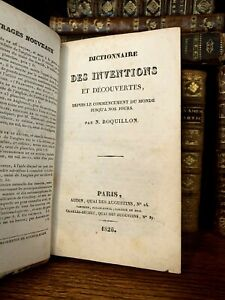1826 DICTIONARY OF INVENTIONS AND DICOVERIES from the Beginning Until Our Days