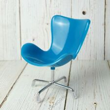 "Blue Swivel chair Mini Furniture For 1/6 11"" 12"" 30cm BJD YOSD  DK Blythe DOll"