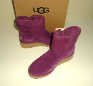 UGG KRISTIN Classic Purple Winter Wedge Ankle Booties New with Box Size 5