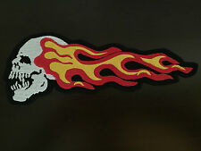 Death Head scull and Flames patch 10x3,8cm MC scull Biker blouson Harley NEUF