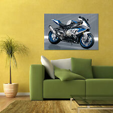 BMW HP4 RACE SPORT BIKE MOTORCYCLE LARGE HD POSTER 24x36in