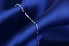 Collier Chaine Court Argent Sterling Massif 925 Fin 40cm 5mm CY1