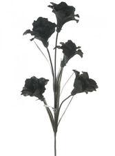 Artificial Silk Flower Fashion 5 head Lily Spray Black