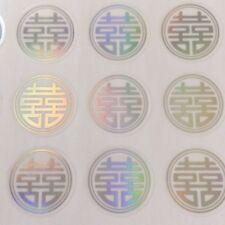 60-Double Happiness Wedding Invitation Envelope Stickers Seals-Round Shape