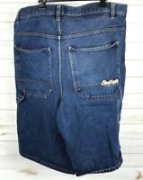 Southpole Men's Denim Jean Shorts Embroidered Pocket Size 46 Baggy Loose A4019