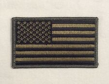 American Flag Patch Embroidered Velcr OD Green Hook United States of America