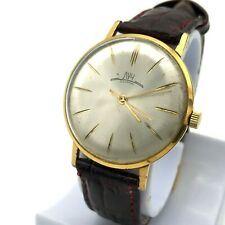 Luxury Costume Ultra Slim Watch LUCH VYMPEL Gold Plated Vintage 18k Mechanical