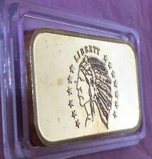 Washington Mint Gold Gild Rare Bar 1 Troy Oz .999 Fine Silver Collectible Ingot