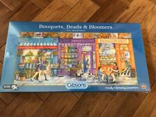 "Gibsons Puzzle - ""Bouquets, Beads & Bloomers"" - 636 pcs - Brand New Sealed"