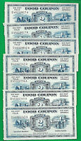 1967  Food Stamp Coupon $2.00 USDA  D-A SERIAL #S - AUCTION IS FOR ONE COUPON.