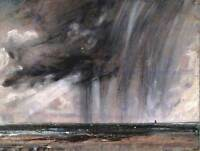 JOHN CONSTABLE SEASCAPE STUDY WITH RAIN CLOUD OLD ART PAINTING PRINT 1629OMB