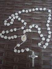 Catholic St.Benedict ROSARY from Medjugorje Hand Made - Stone 17,7""