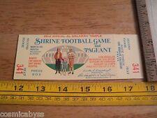 1973 North vs South Shrine Football Game ticket Los Angeles unused FULL ticket