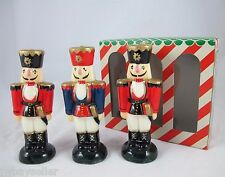 Vintage Nutcracker Holiday Wax Candles Set of 3 Boston Warehouse