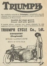 Y7880 Moto con Sidecar TRIUMPH - Pubblicità d'epoca - 1923 Old advertising
