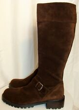 NEW! FIELD GEAR WOMENS BROWN SUEDE TALL BOOTS PRIMA SIZE 10M  C131