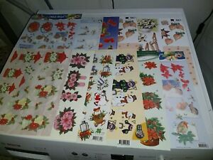 12X 3D SHEETS FOR SCRAPBOOKING SCISSORS NEED 30X21 CM NEW (A1559) CHRISTMAS