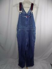 Tommy Hilfiger Women's Overalls Size M  Denim Carpenter Jeans Spell out Straps