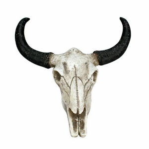 New Resin Copper Faux Cow Skull Wall Mount Steer Bull Horn Head Sculpture