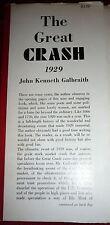 The Great Crash 1929. Galbraith 1955 1st Printing, DJ Wall St. Finance Economics