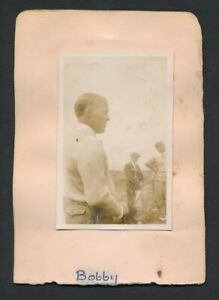 1930 Vintage Golf Autograph Sheet GEORGE VON ELM + Vintage Photo (+ Bobby Jones)