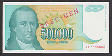 Yugoslavia 500 000 Dinara 1993 Unc P131 Specimen