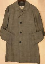 MINT SINGLE BREASTED MENS AQUASCUTUM TWEED 100% WORSTED WOOL COAT Sz 40R/BL& CR