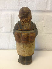 Vintage Antique Wood Carved Folk Art Man Server / Bartender Bottle Opener