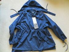 CRAIG GREEN BLUE SLASH NECK HOODED SMOCK JACKET SIZE S NEW WITH TAG