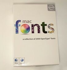 Mac 2000 Fonts Macware OpenType A Complete Collection CD Box Instructions