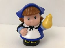 Fisher Price Little People THANKSGIVING PILGRIM GIRL Mayflower w/ SQUASH Rare