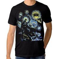 Batman Starry Night T-shirt, Van Gogh DC Comics Tee, Men's Women's All Sizes