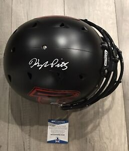 kyle pitts signed autographed schutt authentic hybrid falcons beckett COA