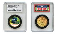 DENVER BRONCOS NFL *GREATEST DAD* JFK 24KT Gold Clad Coin SPECIAL LTD. CASE