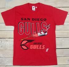 New Vintage 90s Original SAN DIEGO GULLS Hockey IHL Red T-Shirt Size M USA Made