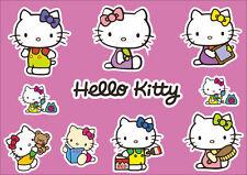 Hello Kitty Decals Logo Stickers Adhesive Graphic Set Vinyl 11 Pcs + BONUS PAGE