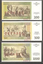 Russia 2012,War of 1812,6 Notes Specimens Tzar Alexander-I & Napoleon Bonaparte