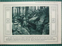 1915 WWI WW1 PRINT ~ SHELTER-TRENCH DIGGING NAVVIES BEING ENLISTED