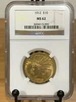 1912 $10 Gold Indian NGC MS62 Mint State 62