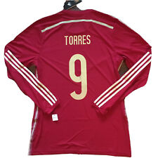 2014/15 Spain Home Jersey #9 TORRES Adizero Player Issue 8 Long Sleeve New
