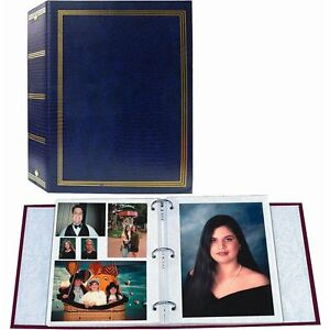 Pioneer TR-100 Magnetic 3-Ring Photo Album Navy Blue (Same Shipping Any Qty)