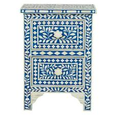 Bone Inlay Bedside Table Home Decor Purpose Attractive Design Crafted Inlay