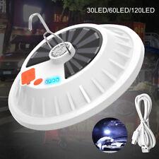 USB LED Solarleuchte Glühbirne Zeltlicht Camping Garten Lampe Außen-Beleuchtung
