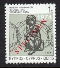CYPRUS MNH 1994 Refugee Fund Specimen Overprint Set