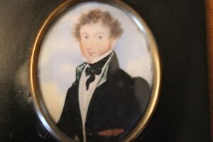 Exceptional Portrait Miniature of Full Faced James Robertson, Aged 22 Yrs