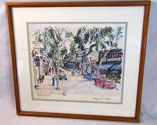 A Davis Johnson Art Print Balboa Island California Framed Numbered 26/100 Signed
