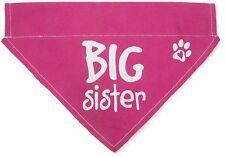 "Big Sister Dog Bandana Pink Slip On Over Collar Canvas 12""x8"" Baby Announcement"