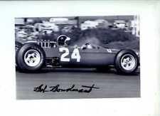 Bob Bondurant Nart Ferrari 158 EE. UU. Grand Prix 1965 Firmado fotografía 1