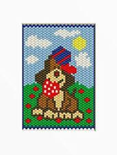 Friskie Puppy Beaded Banner Pattern
